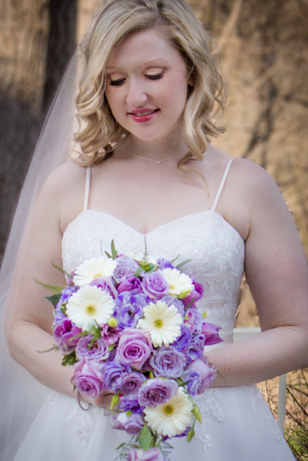 Bridal Portrait - Walk in the Woods Photography