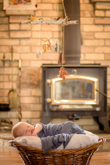 Newborn Photography - Baby in Basket