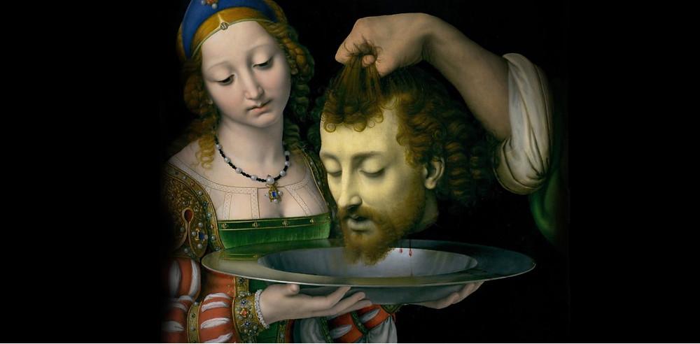 Andrea Solario maal Salomest Ristija Johannese peaga – loodud ajal, mil katk möllas Läänemere ruumis 1505-1509. METROPOLITANI MUUSEUM, NEW YORK