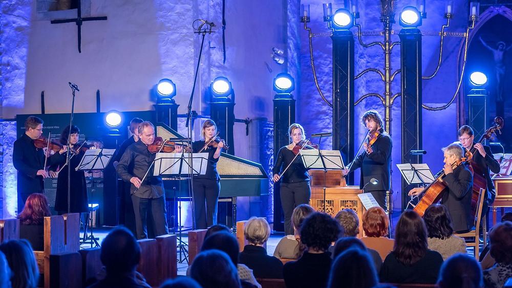 """Vivaldi """"Talv"""" Nigulistes, solist Arvo Leibur. FOTO RENE JAKOBSON"""