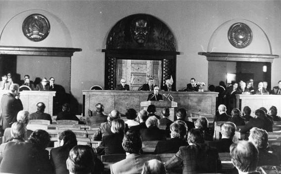 Loomeliitude pleenum 1982. aastal FOTO SCANPIX / Erich Norman / ETA / Õhtuleht arhiiv