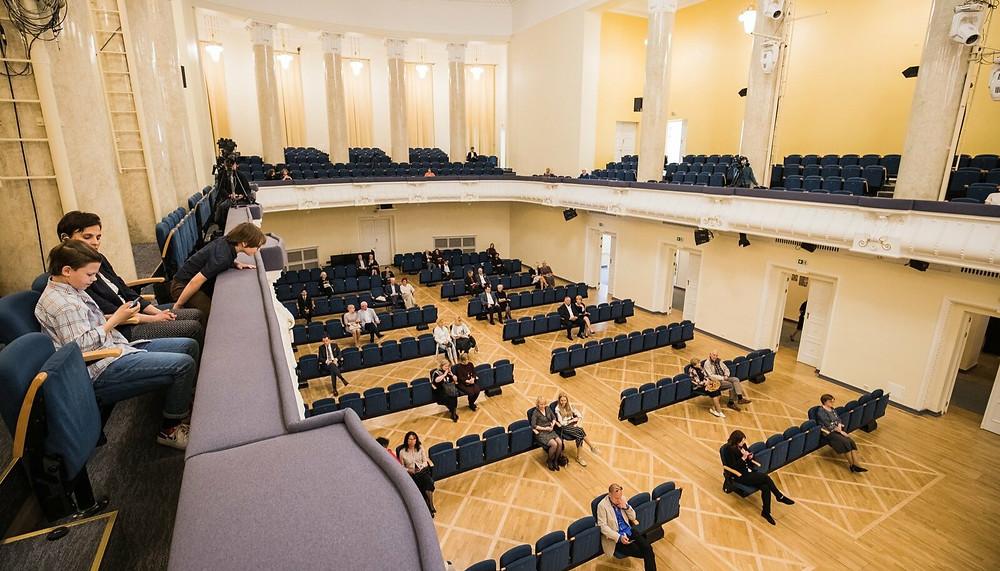 """ERSO kontserti """"Beethoveni septett"""" kuulas 5. juunil Estonia kontserdisaalis ebaharilikult napp publik. FOTO KIUR KAASIK / EPl"""