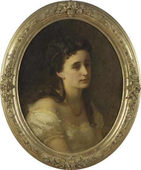 Johann Köler. Ella Schultz-Adajevski portree. Maal Eesti Kunstimuuseumi kogust