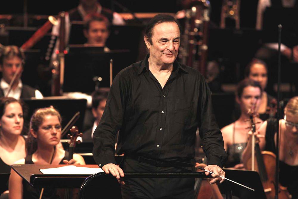 Charles Dutoit on ka Verbier' festivaliorkestri muusikadirektor. FOTO ALINE PALEY / VERBIER' FESTIVAL