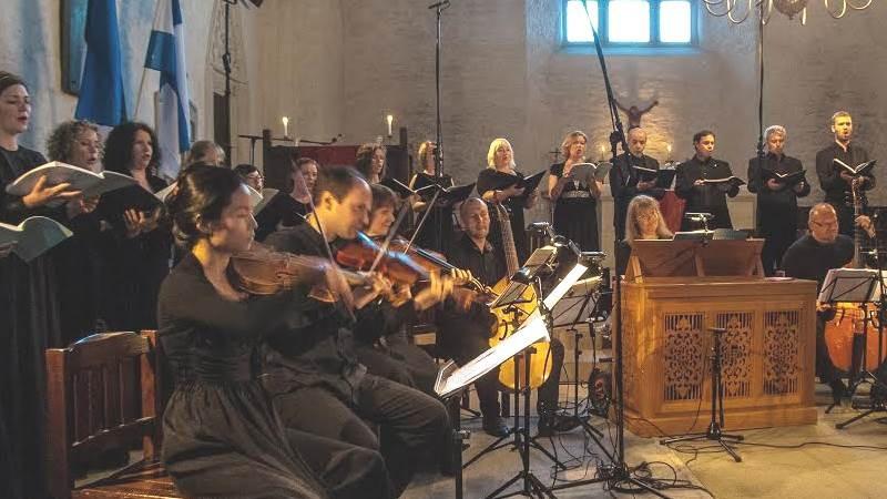 """Hetk Monteverdi """"Maarja-vespri"""" ettekandelt Haapsalu toomkirikus. FOTO ANDREAS WACZKAT"""
