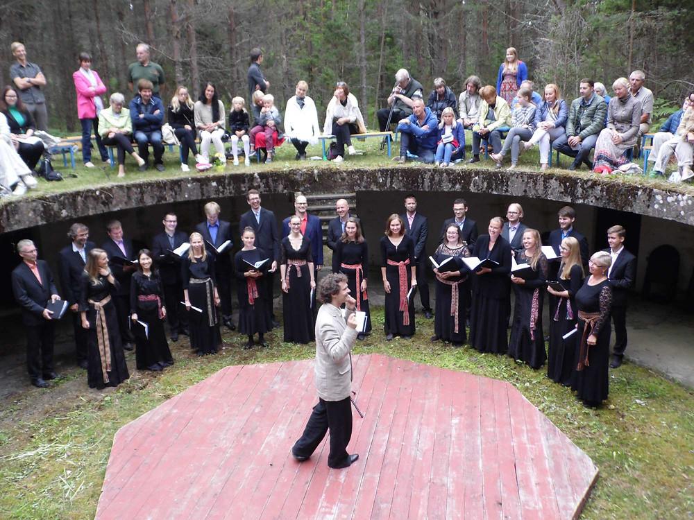 Ninase rannakaitsepatarei akustika oli hämmastav: Collegium musicale delikaatseimadki pianossimod olid selgelt kuulda. FOTO HELINA SEEGEL