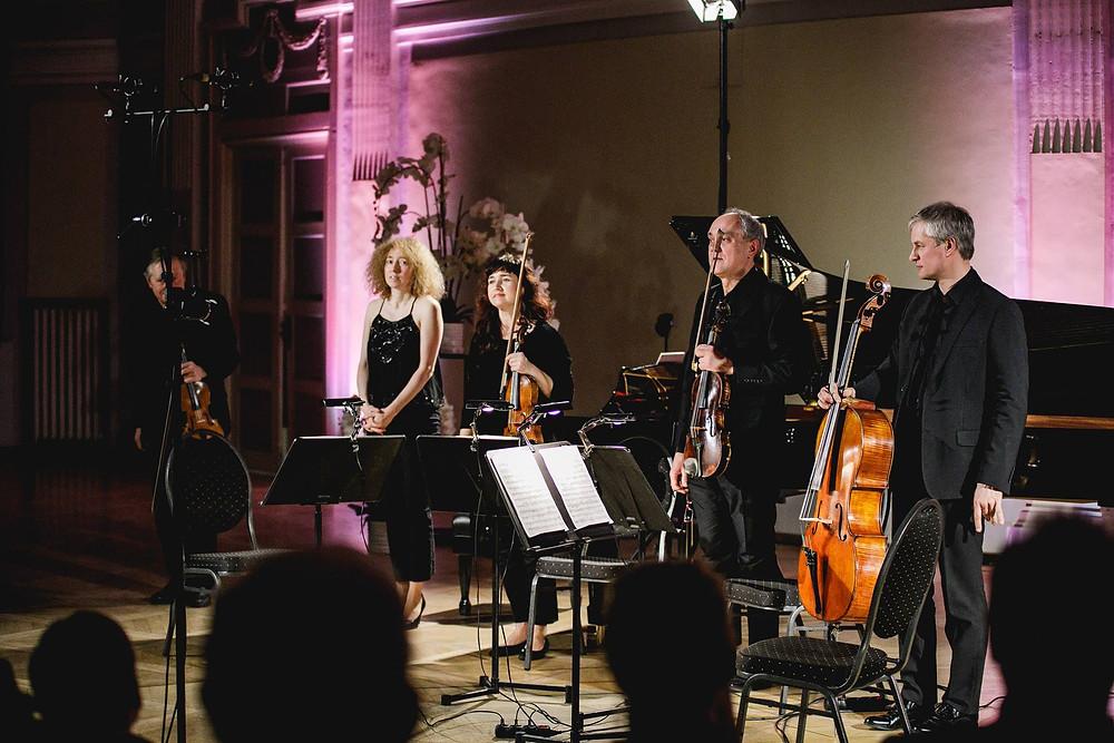 Irina Zahharenkova ja Tallinna Keelpillikvarteti (Urmas Vulp, Olga Voronova, Toomas Nestor ja Leho Karin)