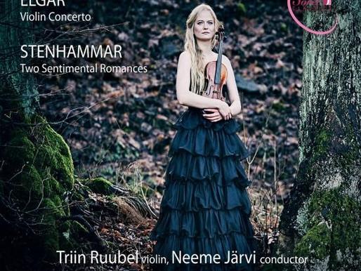 "Elgar Violin Concerto, Stenhammar ""Two Sentimental Romances"". Triin Ruubel, ERSO, Neeme Järvi"