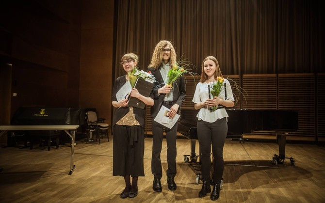 Marta-Liisa Talvet, Kristjan Kannukene ja Anna-Margret Noorhani. Foto: Gabriela Liivamägi
