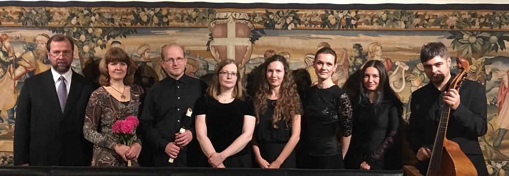 Cantores Vagantese Telemanni ja tema inglise kaasaegsete kontserdi koosseis. Foto Cantores Vagantes.