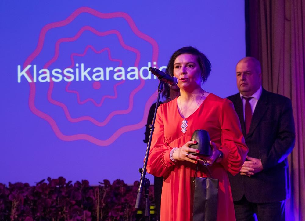 Aasta raadiojaama Klassikaraadio tegevtoimetaja Merge-Ly Rookäär. FOTO emea.efy.ee