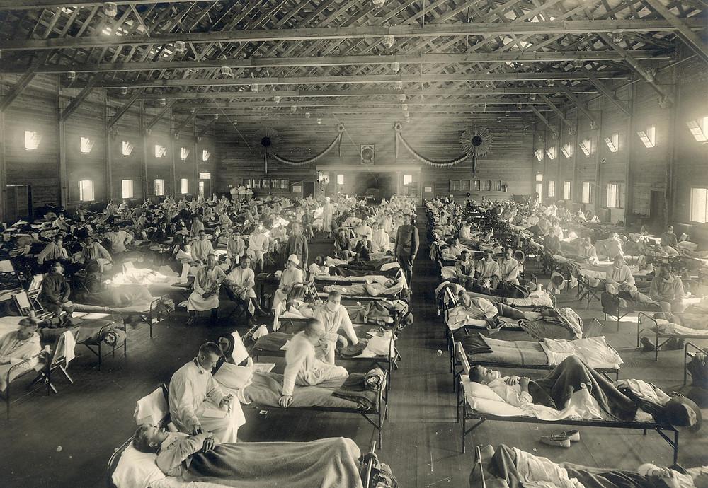 Hispaania gripi epideemia aegu. FOTO Otis Historical Archives, National Museum of Health and Medicine