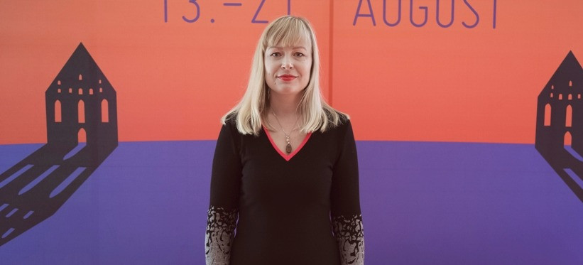 Margit Tohver-Aints Birgitta festivali pressikonverentsil. FOTO LAURA ARUM-LÄÄTS