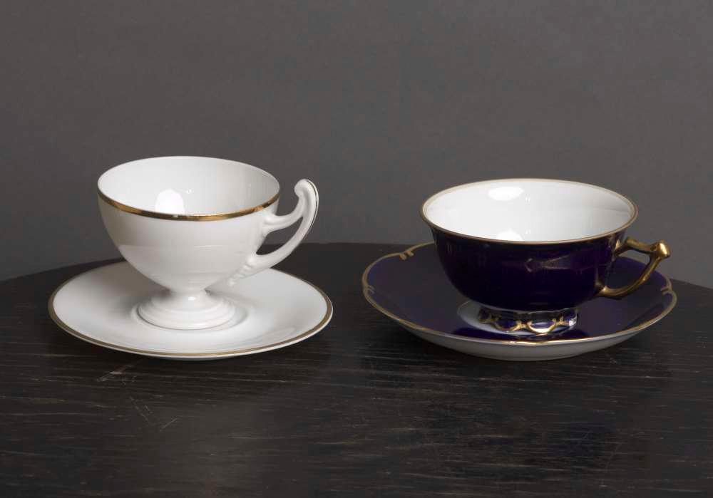 Heino Ellerile kuulunud kohvitassid. FOTO ETMM