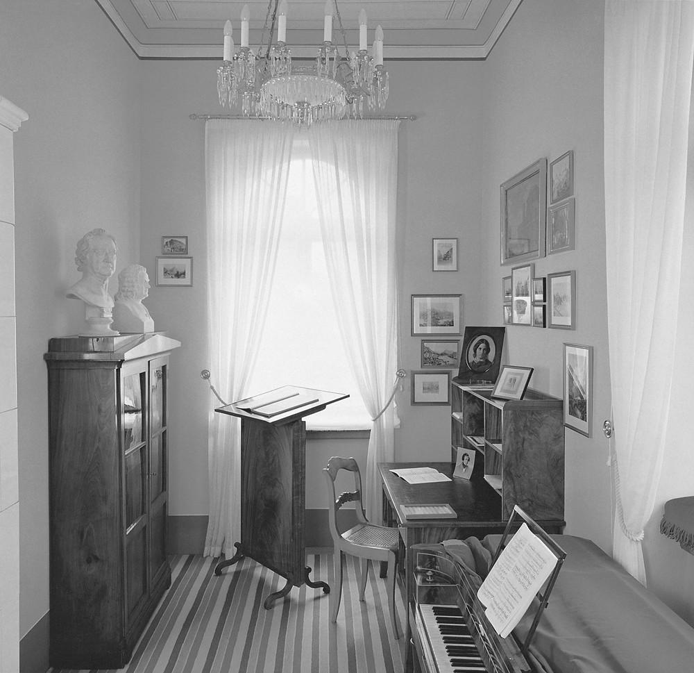 Mendelssohni töötuba muuseumis. FOTO ARCHIV MENDELSSOHN-HAUS