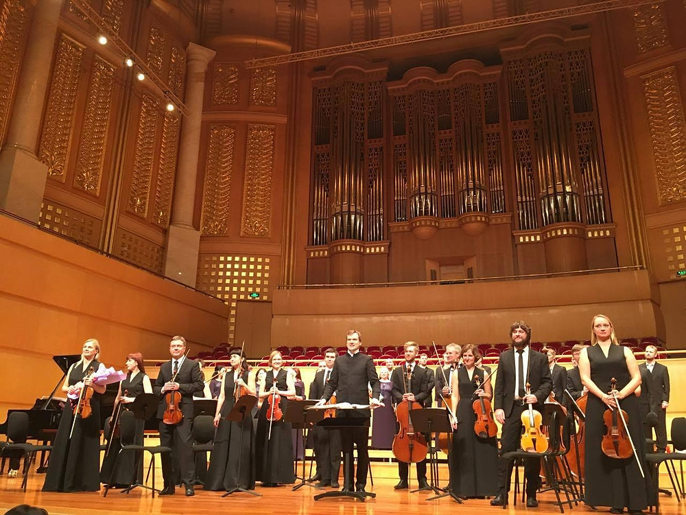 Tallinna Kammerorkester Hiinas Wuhanis Qintai kontserdimajas. FOTO TKO