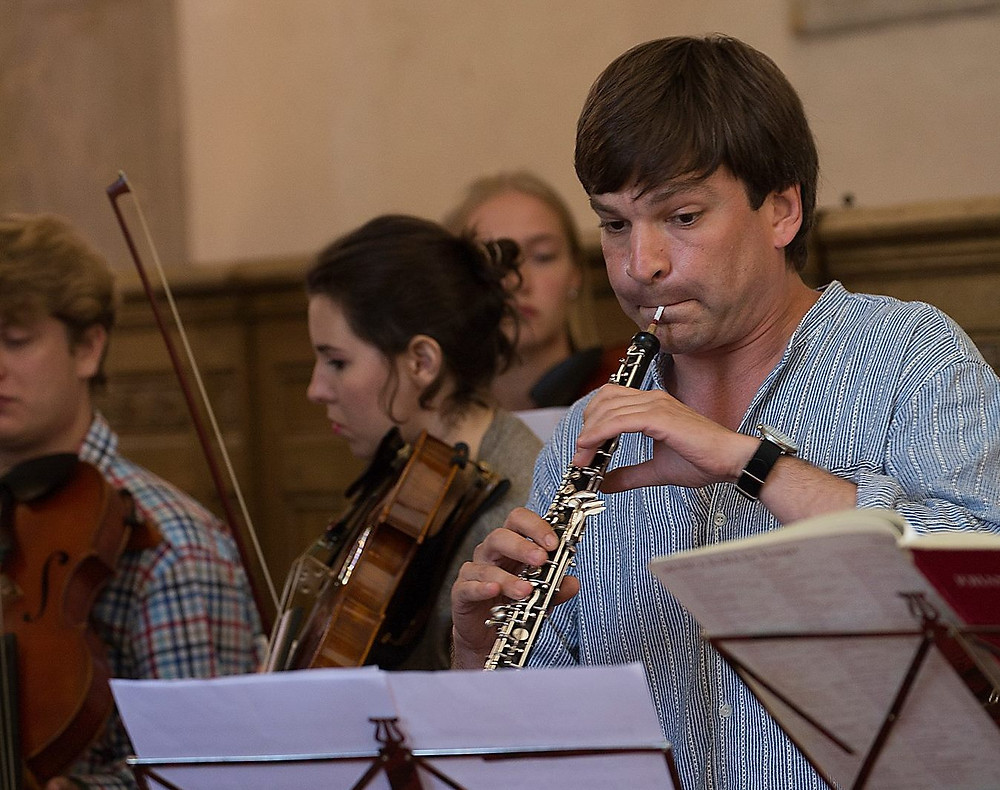 Festivali korraldaja, oboemängija Dmitri Bulgakov. FOTOD CLAIRE HUYDTS