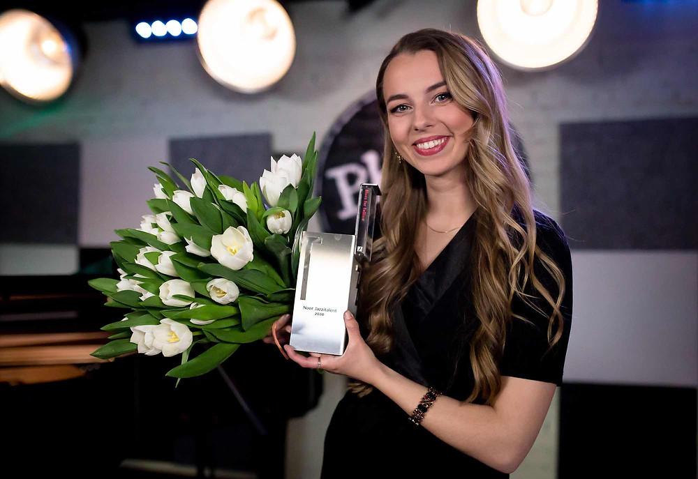Noore jazzitalendi auhinnaga selle aasta aprillis. FOTO SIIRI PADAR