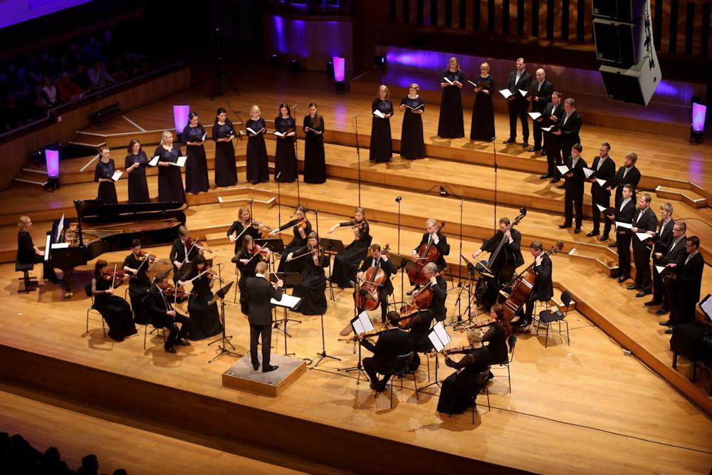 Eesti Filharmoonia Kammerkoor ja Tallinna Kammerorkester Flagey's. FOTO LIIS LINN