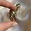 Thumbnail: Boucles vintage pour oreilles percées