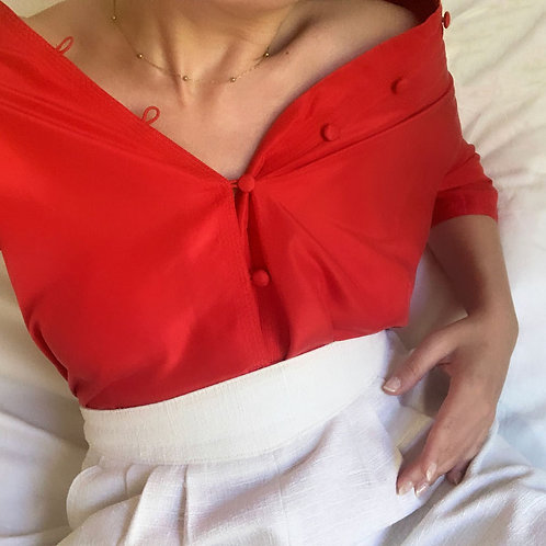 Red Chinese shirt