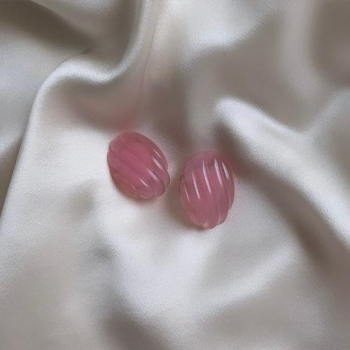 Boucles à clip rose pastel