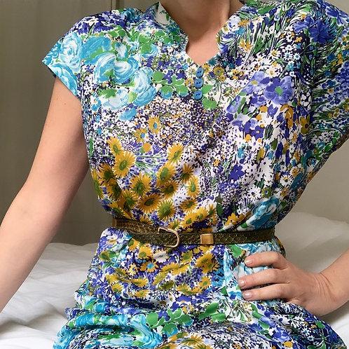 Robe imprimé peinture florale