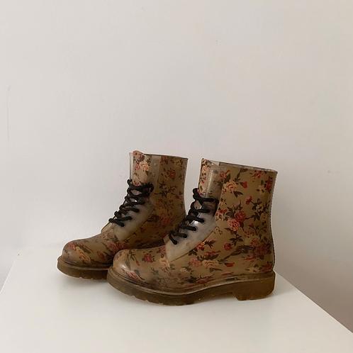 Boots à fleurs