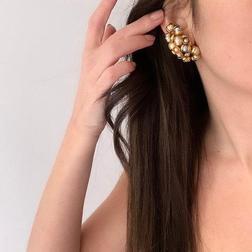 80s pearls earrings