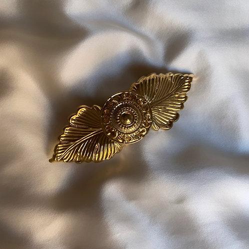 Barrette en métal doré