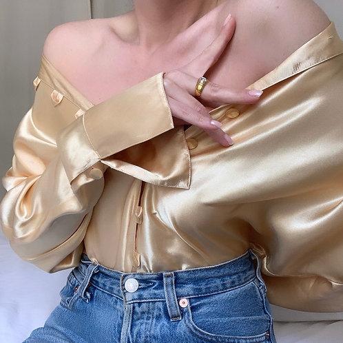 Chemise gold satinée