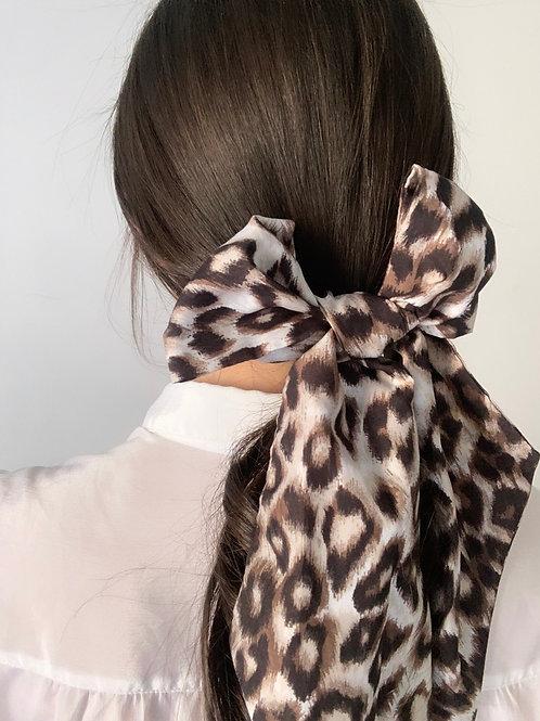 Foulard fin leopard