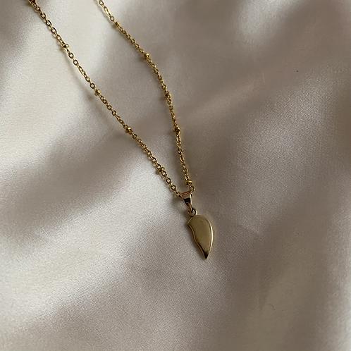 Pendentif demi-coeur plaqué or