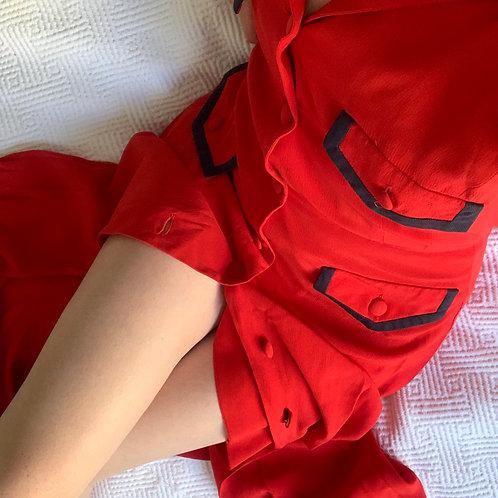 Robe Red Silk