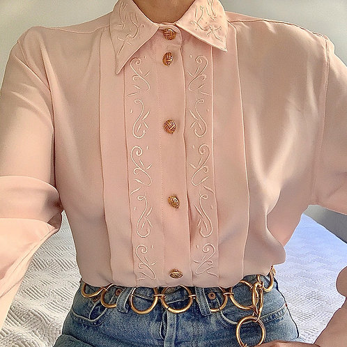 Pink embroided shirt