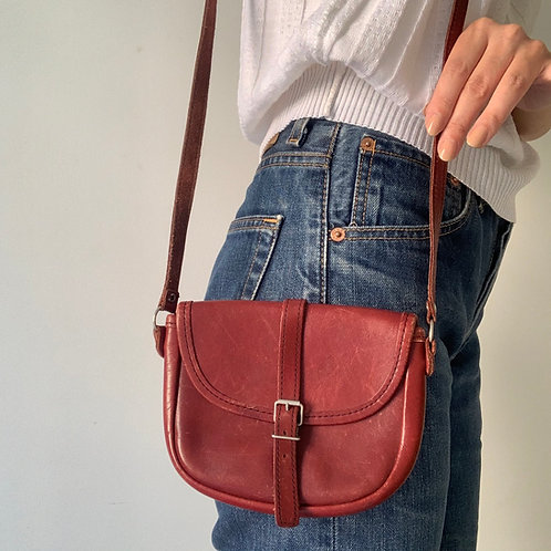 Tiny leather bag