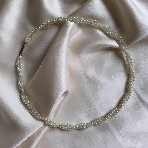 Collier de perles double