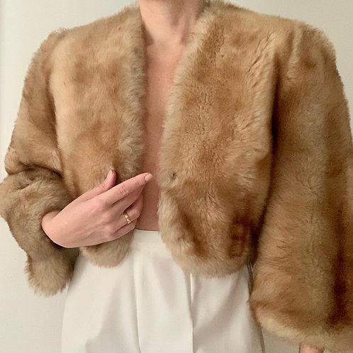 Real fur cropped jacket
