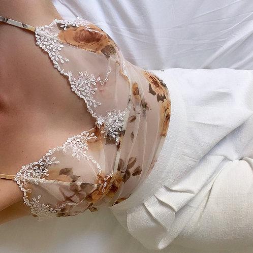 Top lingerie brodé