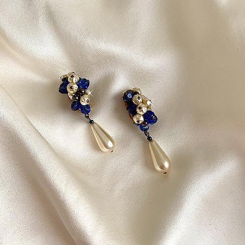 Boucles pendantes en perles