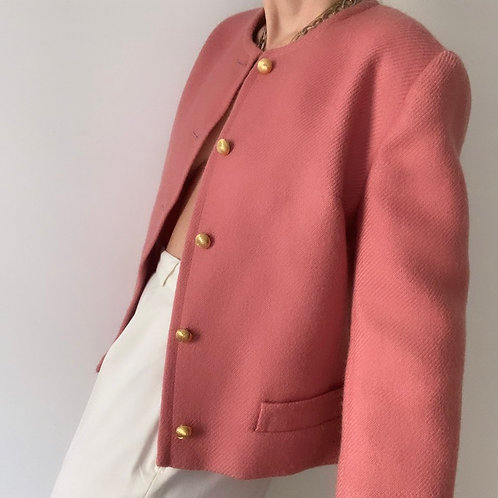 Veste preppy rose