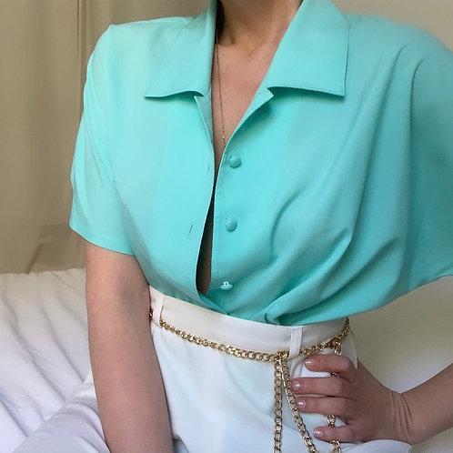 Chemise turquoise