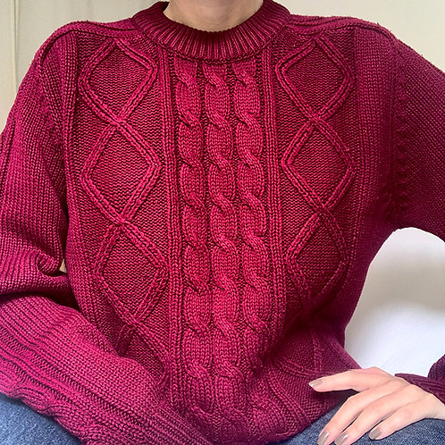 Vintage Bordeaux knit