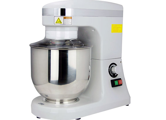 NSF 7-QT WHITE BAKING MIXER WITH GUARD