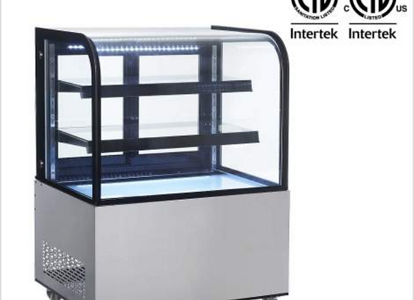 NSF 36'' Curved Glass Stainless Steel Refrigerated Bakery Display Case - ARC270Y