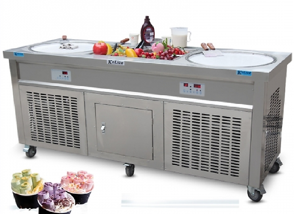 NSF Double Round Pan Fried Ice Cream Machine - FICRN200