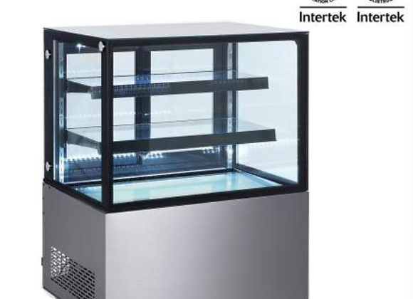 """NSF 36"""" Square Glass Stainless Steel Refrigerated Bakery Display Case - ARC-270Z"""