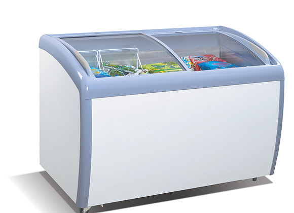 NSF MMF-9112 Angle Curved Top Chest Freezer (Glass Arc Lid)