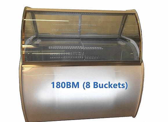 8 Buckets Gelato Freezer Round Display Case-180BM