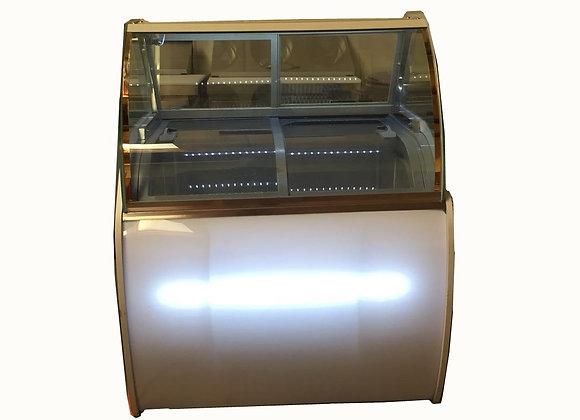 6 Buckets Gelato Freezer Round Display Case-130BM